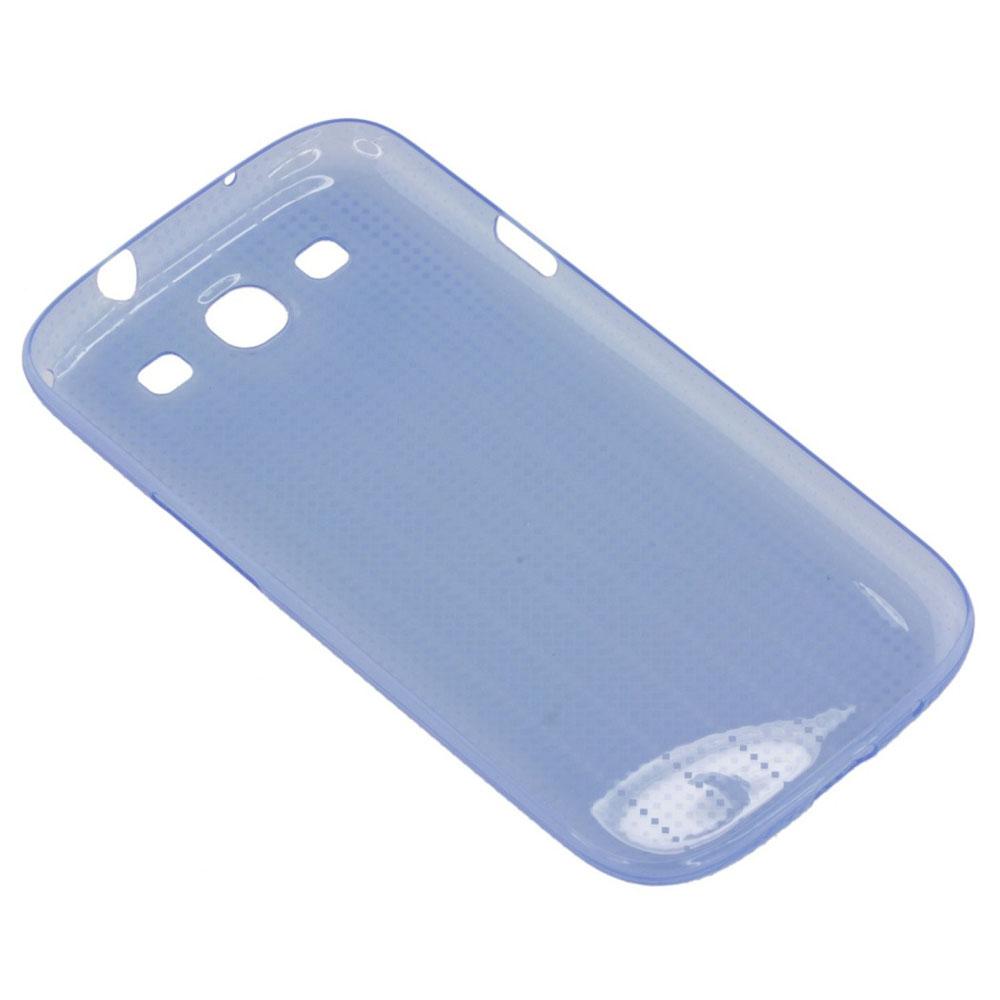 Чехол для Galaxy S3 Slim Cover синийОригинальный силиконовый чехол для Galaxy S 3 надевается на заднюю крышку смартфона и становится серьезным барьером для царапин, сколов и трещин корпуса. Упругий силикон амортизирует любой удар, не соскочит при падении и совершенно не увеличит гаджет в ...<br>