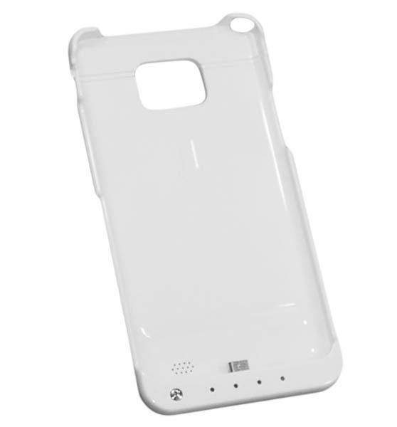 Чехол-аккумулятор Power Bank для Galaxy S II 2000 mAh белый