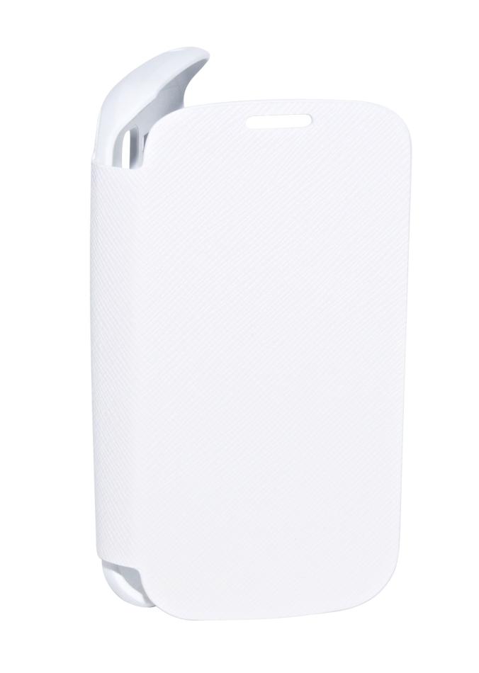 Чехол Anymode для Galaxy S Duos Folio белыйЭтот чехол настолько тонкий и приятный на ощупь, что к нему хочется прикасаться снова и снова. Оригинальный аксессуар от Samsung отлично подчеркивает изящные формы вашего Galaxy S Duos, совершенно не увеличивая его в размерах. Классическая форма книжки ...<br>