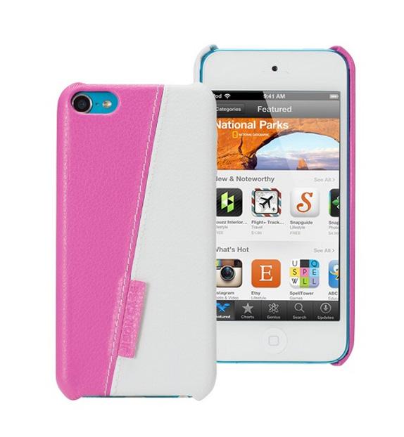 Чехол для iPod touch 5 Jisoncase двухцветный белый/розовый