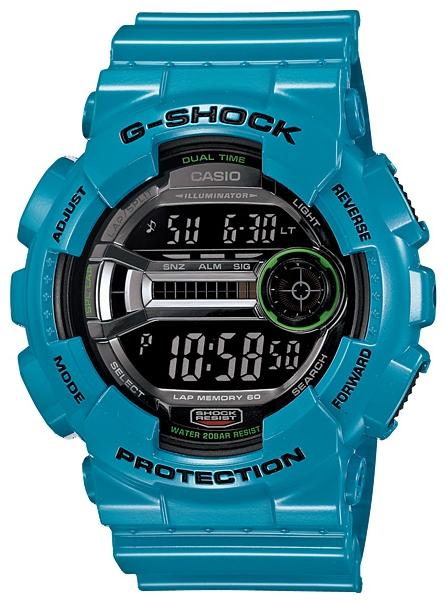Наручные часы Casio GD-110-2EДо появления семейства G-SHOCK в 1983 году наручные часы считались непрочным и хрупким предметом. G-SHOCK исправили это, став новой точкой отсчёта и общепризнанным мировым эталоном высокой стойкости к повреждениям. Создавший G-SHOCK молодой инженер по име...<br>