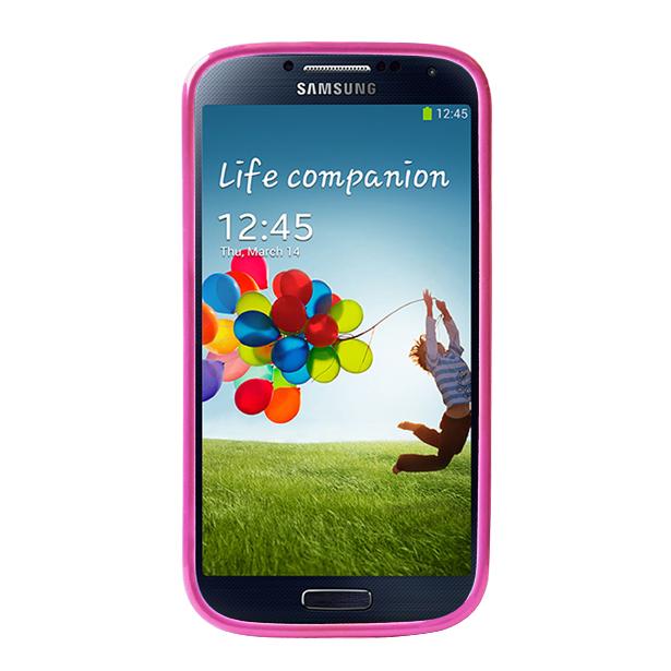 Чехол Puro для Galaxy S IV Clear Cover розовыйPURO Clear Cover — это тонкая и легкая защита для вашего Galaxy S IV. Практически невесомый чехол-накладка сделан из качественного ударостойкого пластика, который плотно прилегает к хрупким панелям телефона, ничуть не увеличивает гаджет в размерах и отлич...<br>