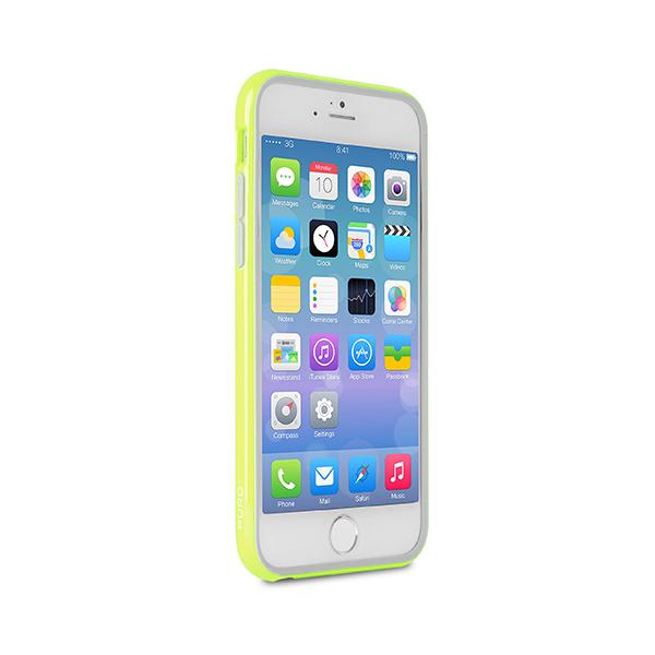 Чехол Puro для iPhone 6 Plus BUMPER (с защитной пленкой), зеленыйМатериалом для изготовления чехла Puro для iPhone 6 Plus BUMPER (с защитной пленкой) послужил термопластичный полиуретан. Аксессуар характеризуется высокой износоустойчивостью, так как не царапается при использовании, чего нельзя сказать о металлических ч...<br>