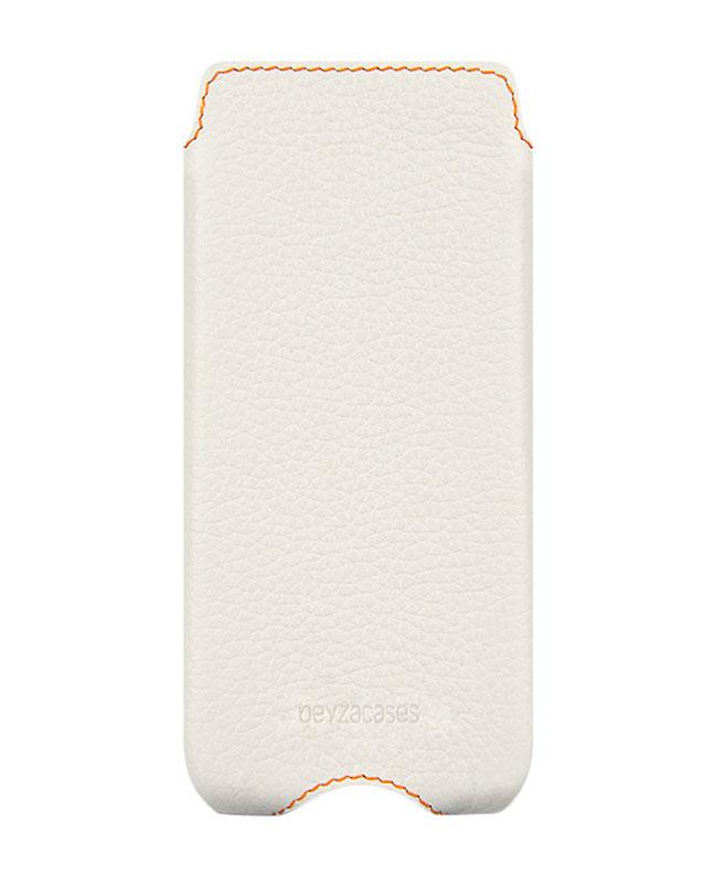 Чехол для iPhone 5/5S Zero Case WhiteКлассические линии в сочетании с модной прострочкой контрастными нитками не оставят вас равнодушными. Невесомый кожаный чехол Zero создан специально для изящных форм iPhone 5. Тонкая и прочная натуральная кожа высшего качества идеально повторяет формы т...<br>