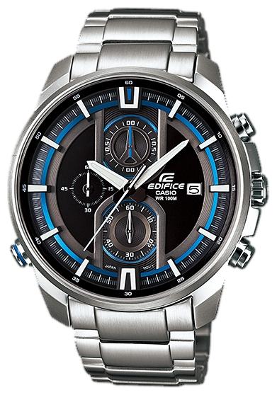 Наручные часы Casio EFR-533D-1AУниверсальность, практичность, функционал – на это нацелились инженеры из Casio тогда в 2006. В итоге гигант часовой индустрии создал ещё один рыночный хит. С дизайном Edifice одинокого хорошо сочетается как динамичный спортивный наряд, так и подчёркнуто ...<br>
