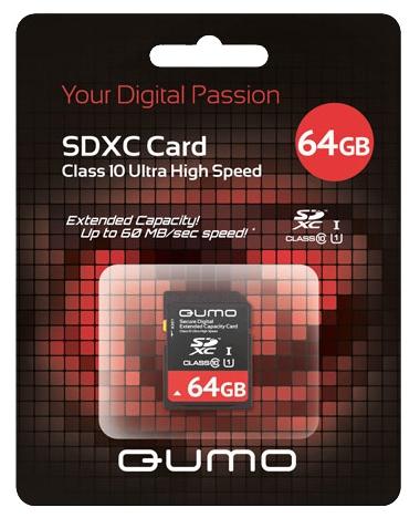 SDXC 64GB QUMO Сlass 10 64 GbФлеш-карта QUMO SDXC 64GB Class 10 – это универсальная карта памяти, которая подходит для цифровой техники, поддерживающей данный формат карт. Она призвана расширить память различных устройств. Данная карта имеет 10 класс записи – самый высокий и самый бы...<br>