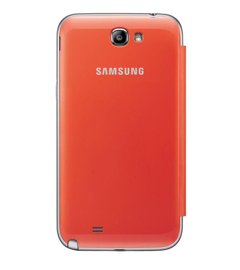 Чехол для Galaxy Note 2 с флипом оранжевыйСупертонкий оригинальный чехол от Samsung — это достойная защита для вашего Galaxy Note 2. Продумано все до последней детали: крепкий каркас и практичный механизм «флип» надежно защищают корпус гаджета от повреждений и позволяют ответить на звонок одним...<br>