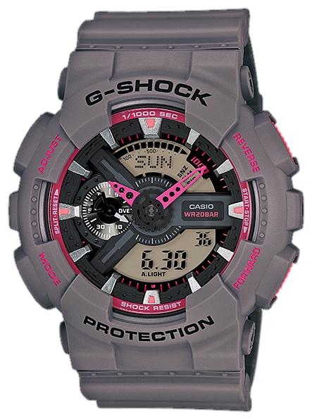 Наручные часы Casio GA-110TS-8A4До появления семейства G-SHOCK в 1983 году наручные часы считались непрочным и хрупким предметом. G-SHOCK исправили это, став новой точкой отсчёта и общепризнанным мировым эталоном высокой стойкости к повреждениям. Создавший G-SHOCK молодой инженер по име...<br>