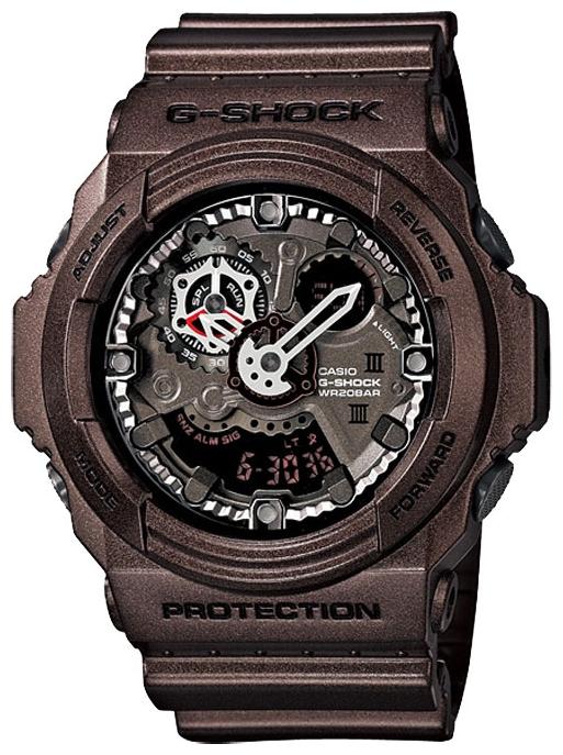 Наручные часы Casio GA-300A-5AДо появления семейства G-SHOCK в 1983 году наручные часы считались непрочным и хрупким предметом. G-SHOCK исправили это, став новой точкой отсчёта и общепризнанным мировым эталоном высокой стойкости к повреждениям. Создавший G-SHOCK молодой инженер по име...<br>