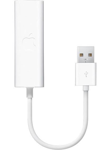 Переходник Apple USB Ethernet Adapter (MC704ZM/A)Адаптер поможет вам подключить ноутбук MacBook Air к сети Ethernet. Аксессуар подсоединяется к интерфейсу USB 2.0. Модель поддерживает 10/100BASE-T через гнездо RJ-45.<br>