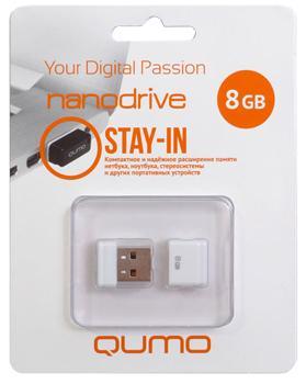 USB-накопитель Qumo Nano USB 2.0 8GB White