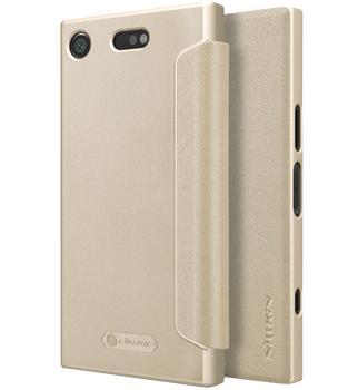 Чехол Nillkin Sparkle для Sony Xperia XZ1 Compact GoldПрактичный чехол защищает смартфон при падениях и ударах. Не секрет, что гаджеты часто роняют. Их ремонты стоят недешево. Позаботьтесь об этом заранее — защитите любимый девайс. В этом стильном чехле ваш мобильный гаджет будет долго выглядеть новым.<br>