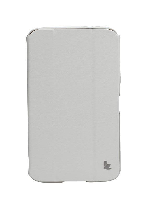 Чехол для Samsung Galaxy Tab 3 7.0 Jisoncase Executive белыйСтильный, удобный чехол Yoobao Executive Leather изготовлен из высококачественной кожи. Может использоваться, как подставка (2 конфигурации - для видео и для текстов) для просмотра фото, видео, а также текстовых файлов.<br>