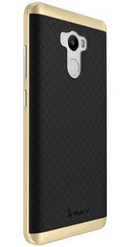 Чехол-накладка для Xiaomi Redmi 4 iPaky Case золотоПрактичный чехол защищает девайс при падениях и ударах. Не секрет, что гаджеты часто роняют. Их ремонты стоят недешево. Позаботьтесь об этом заранее — защитите любимый девайс. В этом стильном чехле ваш мобильный гаджет будет долго выглядеть новым.<br>