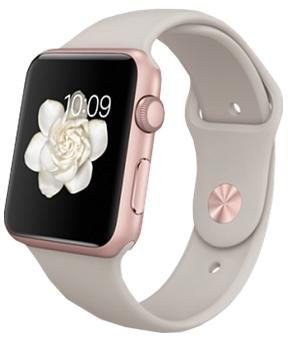 Apple Watch Sport 42mm with Stone Sport Band Rose Gold