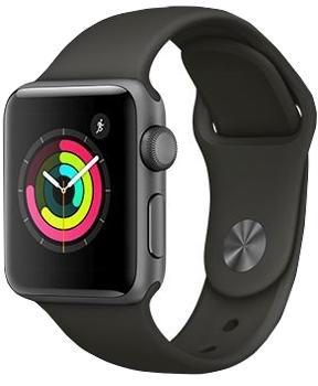 Apple Watch Series 3 38mm Space Gray Aluminum Case with Gray Sport BandApple Watch Series 3 — прорыв компании Apple на рынке умных часов. Были усилены практически все основные характеристики гаджета. Система стала быстрее, автономность заметно выросла, появился голосовой контакт с Siri. Опыт использования резко улучшился. GP...<br>