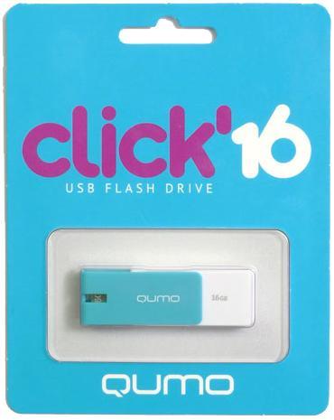 USB-накопитель Qumo Click USB 2.0 16GB AzureЯркая и легкая флешка Qumo Click 16 GB с интерфейсом подключения USB 2.0 поможет вам хранить важные данные, куда бы вы ни отправились.<br>
