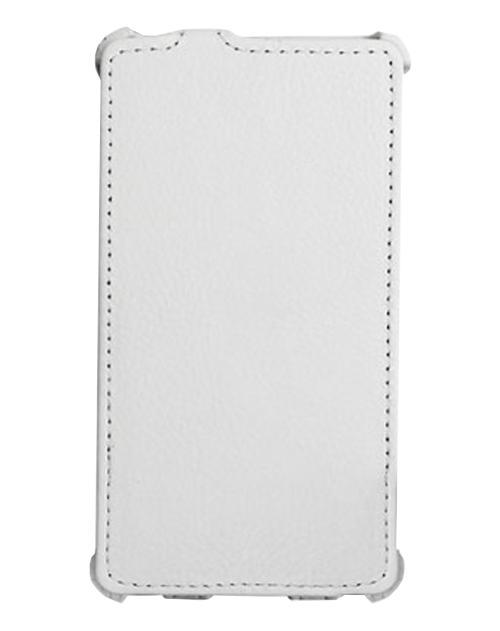 Чехол кожаный Ainy для Huawei Ascend P7 белый