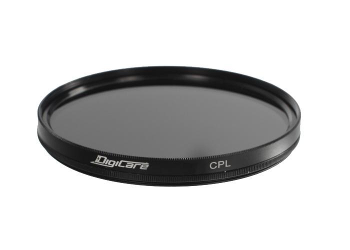 DigiCare 55mm CPL поляризационныйПоляризационный фильтр Digicare CPL, диаметром 55мм — просто находка для съемки на открытом воздухе. Он сведет к минимуму любые засветки, блики и отражения, что особенно важно при съемках воды, снега и объектов, находящихся за стеклом. С ним вы получите п...<br>