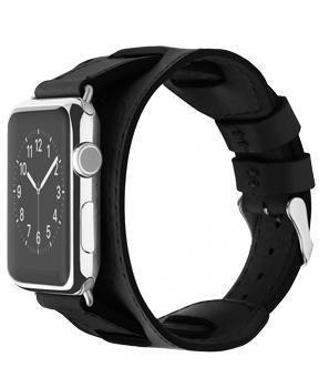 Ремешок для Apple Watch 42mm Cozistyle Wide Leather Band Light Black