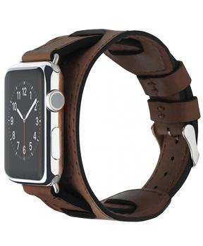 Ремешок для Apple Watch 42mm Cozistyle Wide Leather Band Dark Brown