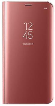 Чехол для Samsung Galaxy S8 Clear View Standing Cover pinkПрактичный чехол защищает смартфон при падениях и ударах. Не секрет, что гаджеты часто роняют. Их ремонты стоят недешево. Позаботьтесь об этом заранее — защитите любимый девайс. В этом стильном чехле ваш мобильный гаджет будет долго выглядеть новым.<br>