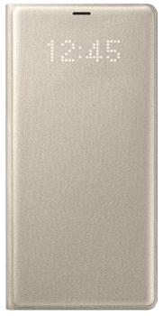 Чехол для Samsung Galaxy Note 8 LED View goldПрактичный чехол защищает смартфон при падениях и ударах. Не секрет, что гаджеты часто роняют. Их ремонты стоят недешево. Позаботьтесь об этом заранее — защитите любимый девайс. В этом стильном чехле ваш мобильный гаджет будет долго выглядеть новым.<br>