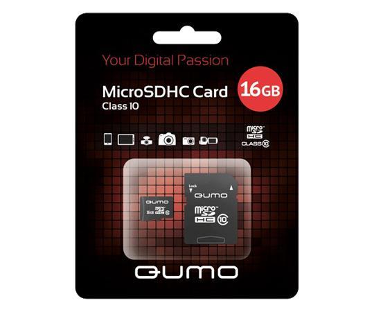 MicroSDHC 16GB QUMO Сlass 10 с адаптером SD 16 GbФлеш-карта QUMO MicroSDHC 16GB Class 10 – это универсальная карта памяти, которая подходит для цифровой техники, поддерживающей данный формат карт. Она призвана расширить память различных устройств. Данная карта имеет 10 класс записи – самый высокий и сам...<br>