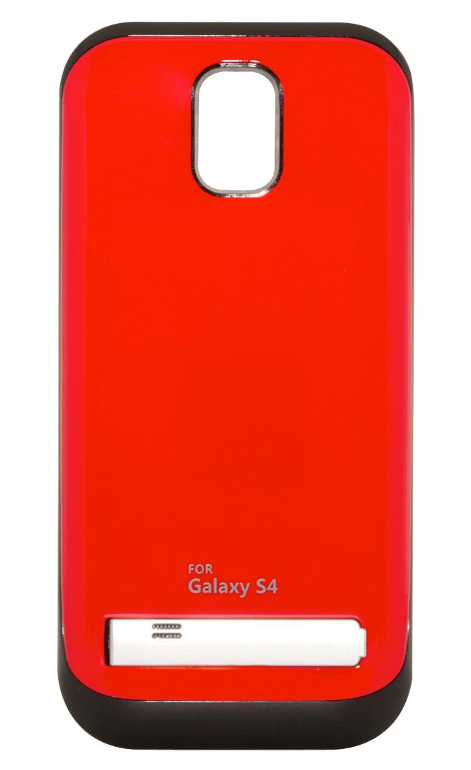 Чехол-аккумулятор для Galaxy S IV /3200mAh/ с флипом красный