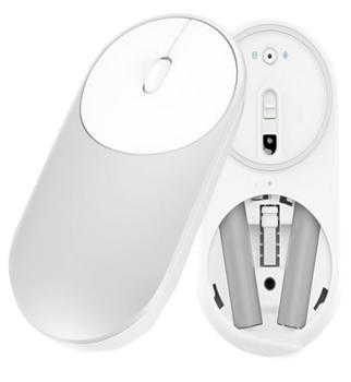 Мышь Xiaomi Mi Portable Mouse SilverXiaomi Mi Portable Mouse — универсальная беспроводная мышь с современным дизайном. «Изюминка» в том, что эта модель поддерживает 2 режима. Манипулятор может функционировать по Bluetooth или же через обычный USB-приемник 2,4 ГГц. На тыльной панели есть соо...<br>