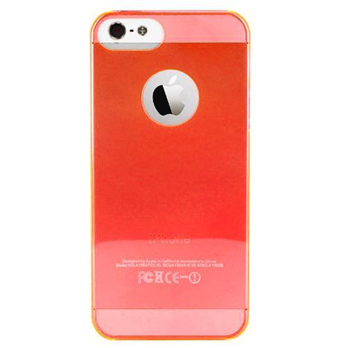 Чехол для iPhone 5/5S PURO Crystal Cover красныйPURO Crystal Cover — это тонкая и легкая защита для вашего iPhone 5. Прозрачный чехол-накладка сделан из качественного ударостойкого силикона, который плотно прилегает к хрупким панелям телефона, ничуть не увеличивает гаджет в размерах и отлично защищает ...<br>