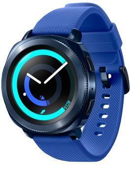 Samsung Gear Sport BlueSamsung Gear Sport — полезный фитнесс-аксессуар и стильный элемент образа. Гаджет помогает побольше двигаться, заряжая вас мотивацией к достижению новых вершин. Красивый девайс на запястье отследит спортивные показатели. Производитель объединил широкий фу...<br>