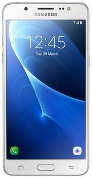 Samsung Galaxy J5 SM-J510F/DS white (2016)Samsung Galaxy J5 (2016) – доступный, но стильный и быстрый смартфон для экономных пользователей. Внутри тонкого 8,1 мм корпуса разместился солидный 3 100 мАч аккумулятор, который легко заменяется. На борту есть полный набор современных беспроводных модул...<br>