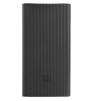 Оригинальный силиконовый чехол для Xiaomi Power bank 20000 mAh (черный)Практичный чехол защищает девайс от потертостей и царапин.<br>