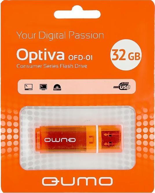USB-накопитель Qumo Optiva 01 USB 2.0 32GB OrangeУдобная флешка Qumo Optiva 01 32GB с интерфейсом USB 2.0 - это не только надежный хранитель информации для тех, кто ценит гарантии и скорость, но и элемент, подчеркивающий вашу индивидуальность в атмосфере серых городских будней. Вся радуга цветов создаст...<br>