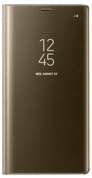 Чехол для Samsung Galaxy Note 8 Clear View Standing Cover goldПрактичный чехол защищает смартфон при падениях и ударах. Не секрет, что гаджеты часто роняют. Их ремонты стоят недешево. Позаботьтесь об этом заранее — защитите любимый девайс. В этом стильном чехле ваш мобильный гаджет будет долго выглядеть новым.<br>