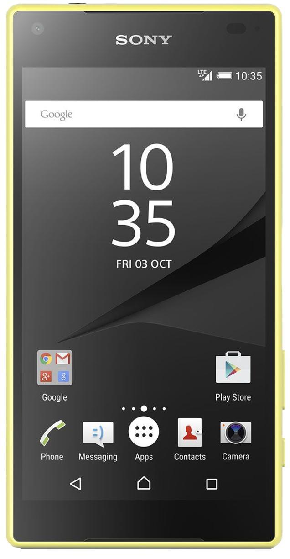 Sony Xperia Z5 Compact E5803 YellowSony Xperia Z5 Compact — смартфон в значительной степени уникальный. Модель сочетает в себе компактность и большую производительность Z5. Изображение на дисплее дополнительно улучшают фирменные технологии Sony — Triluminos display и X-Reality Engine. Макс...<br>