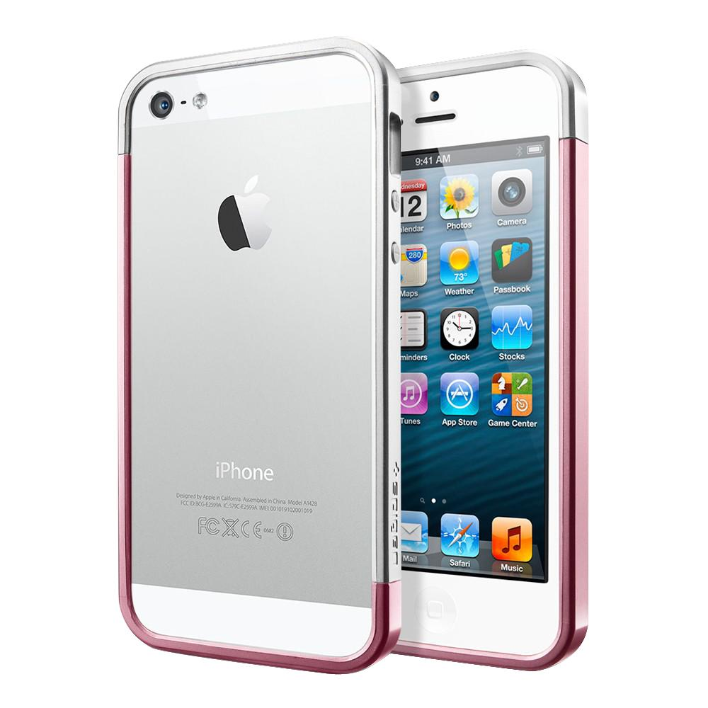 Бампер для iPhone 5/5S SGP Liner EX Slim Metal Pink