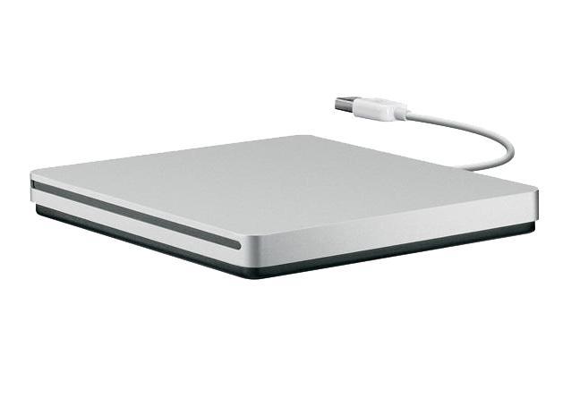 Внешний привод Apple MacBook USB SuperDrive (MD564ZM/A)Внешний оптический привод Apple MacBook Air SuperDrive открывает вам море новых возможностей. Подключите его к USB-порту вашего ноутбука и смотрите сколько угодно фильмов, слушайте музыку или записывайте диски напрямую. Легкий и тонкий алюминиевый корпу...<br>