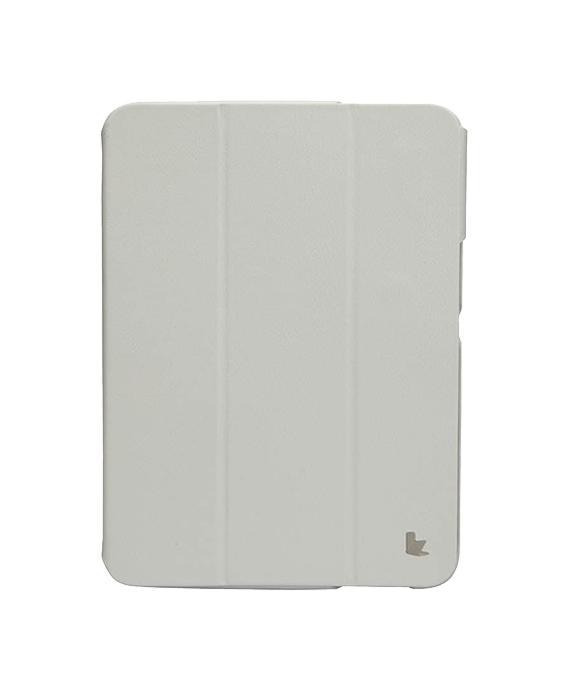 Чехол для Samsung Galaxy Tab 3 10.1 Jisoncase Executive белыйСтильный, эргономичный чехол из натуральной кожи высокого качества. Внутренняя поверхность чехла (микрофибра) защищает от царапин, чехол имеет режим включения/выключения режима сна устройства. Кроме этього, чехол хорошо подходит для использования в качест...<br>