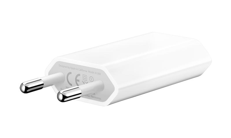 Сетевой адаптер для iPhone/iPod APPLE USB Power Adapter 1A 5W, MD813