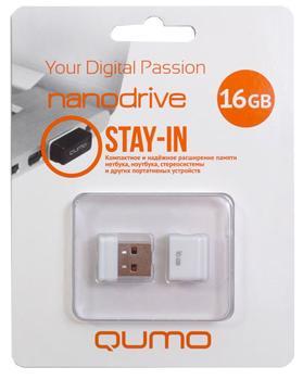 USB-накопитель Qumo Nano USB 2.0 16GB 16 GbКомпактный, недорогой, практичный flash-накопитель предназначен для хранения и переноса данных.<br>