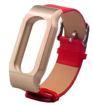 Ремешок кожаный для Xiaomi Mi Band 2 красный
