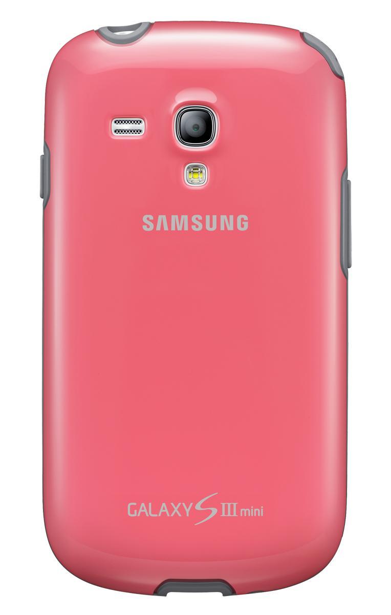 Чехол Samsung для Galaxy S III mini розовыйЕсли вам нужна надежная и невесомая защита для вашего Samsung Galaxy S III mini, то оригинальный чехол-накладка от Samsung точно не подведет. Уникальный современный прорезиненный пластик не скользит в руках, не увеличивает телефон в размерах и безукоризне...<br>