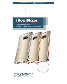 Накладка силиконовая для Xiaomi Redmi 4X Ibox Blaze серебристая рамка