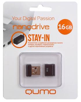 USB-накопитель Qumo Nano USB 2.0 16GB Black