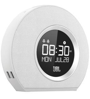 Портативная акустика JBL Horizon белаяHorizon от компании JBL — полезный комбайн «все-в-одном». Универсальный девайс объединяет будильник, светильник, радио. Это не все возможности гаджета. Модель заряжает мобильную технику через свои USB-порты. Есть беспроводный модуль Bluetooth. В комплект ...<br>