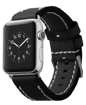 Ремешок для Apple Watch 42mm Cozistyle Leather Band Black