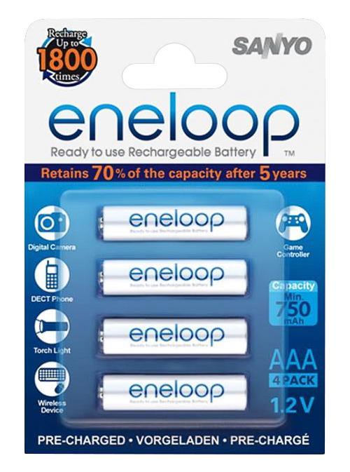 ����������� SANYO Eneloop HR-4UTGB-4BP 750 mAh, 4 ��, �������, AAA