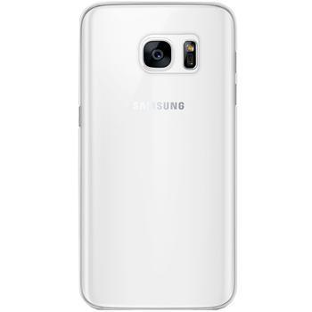 Чехол для Samsung Galaxy S7 силиконовый прозрачныйПрактичный чехол защищает девайс при падениях и ударах. Не секрет, что гаджеты часто роняют. Их ремонты стоят недешево. Позаботьтесь об этом заранее — защитите любимый девайс. В этом стильном чехле ваш мобильный гаджет будет долго выглядеть новым.<br>